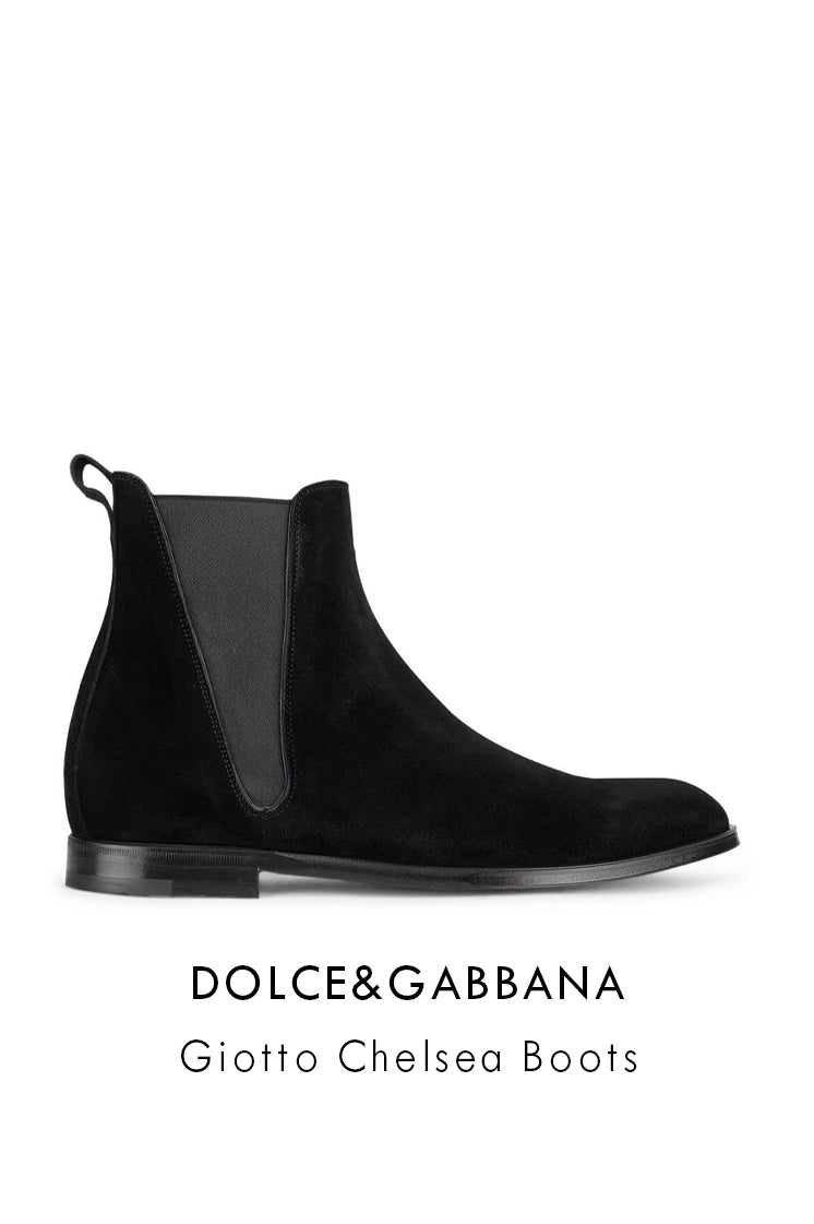 Dolce&Gabbana black suede leather Chelsea boots