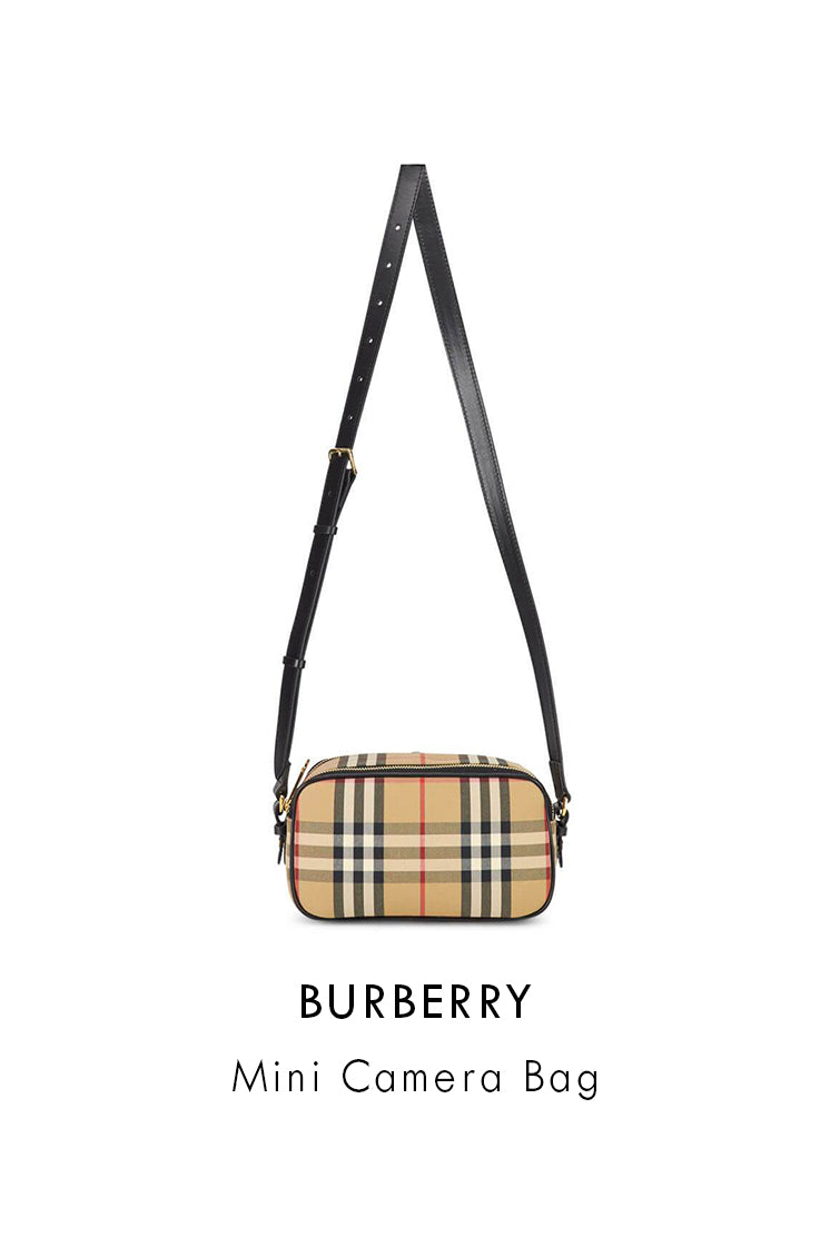 Burberry Cotton-blend Archive Beige Mini Camera Bag