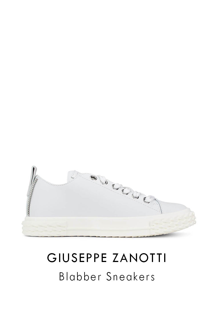 Giuseppe Zanotti Cream Leather Blabber Sneakers