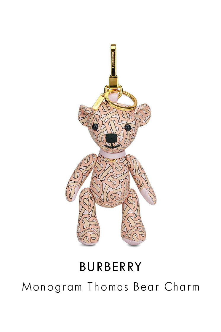 Burberry Blush Pink Leather Monogram Thomas Bear Charm