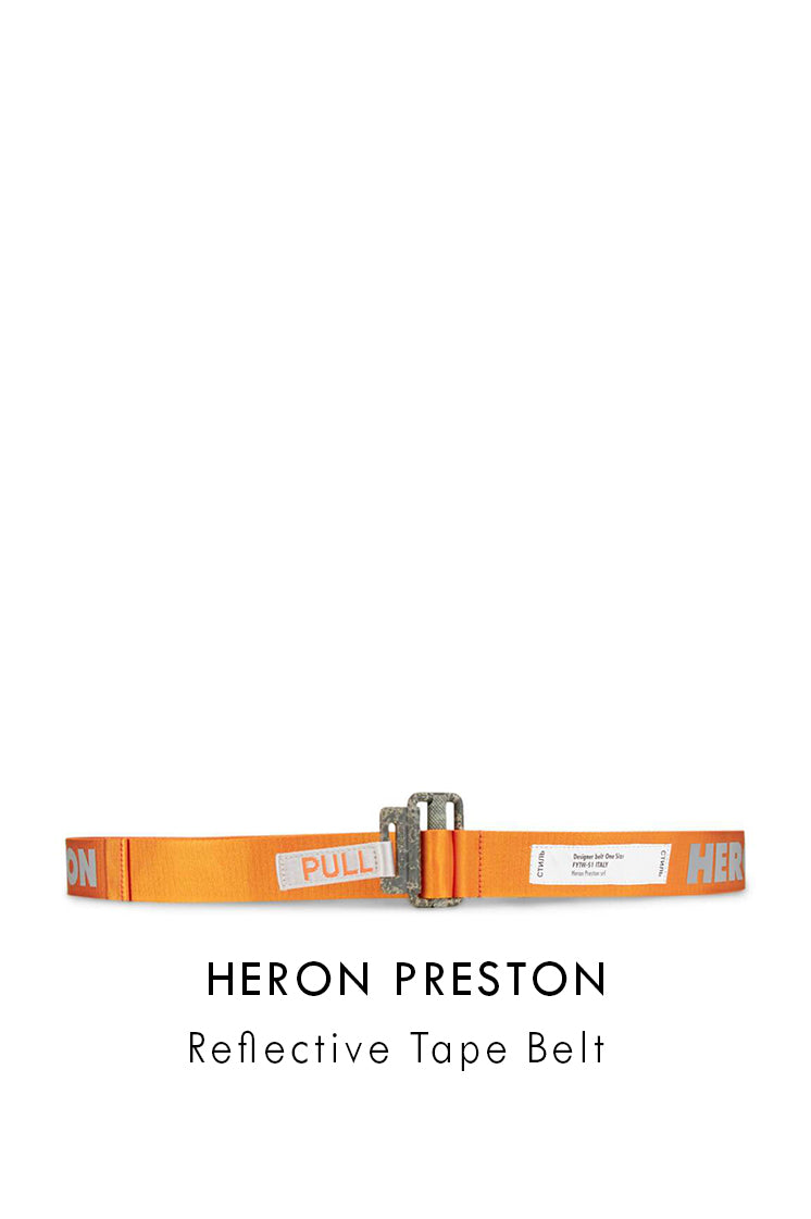 Heron Preston Orange Relective Tape Belt