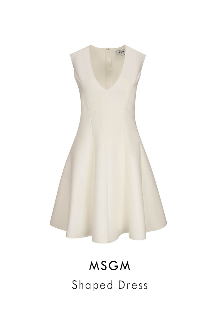 MSGM Off-White Stretch-Blend Shaped Dress
