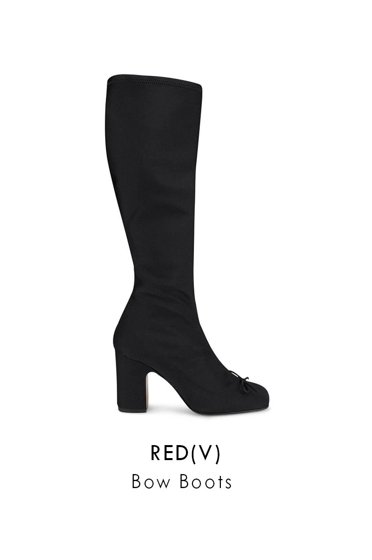 RED(V) Black Silk Blend Boots