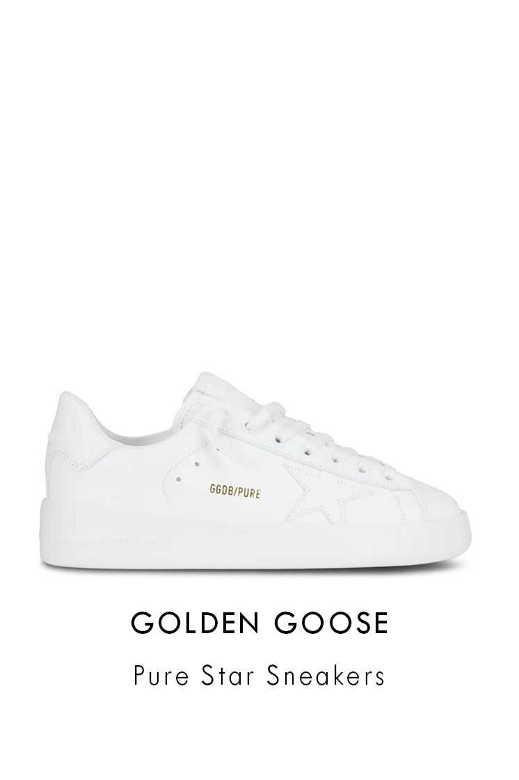 Golden Goose Optic White Leather Rubber Pure Star Sneakers