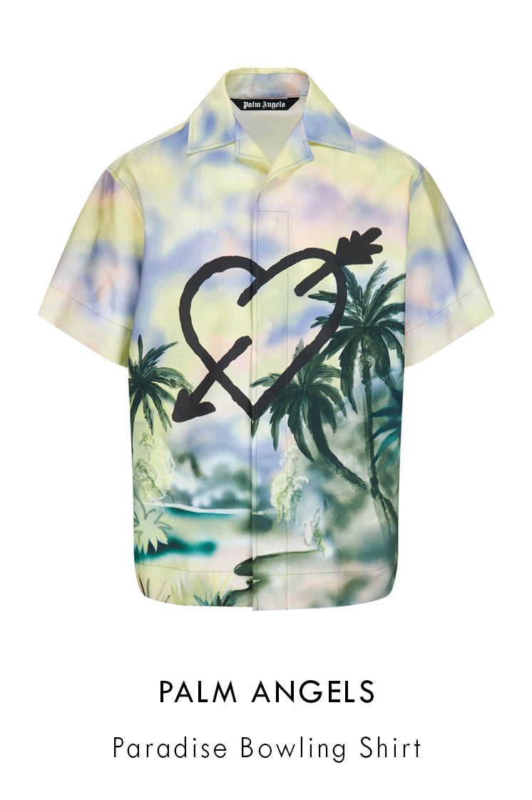 Palm Angels paradise cotton bowling shirt in multicolour
