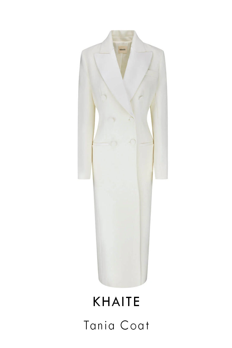 Khaite Ivory Silk coat