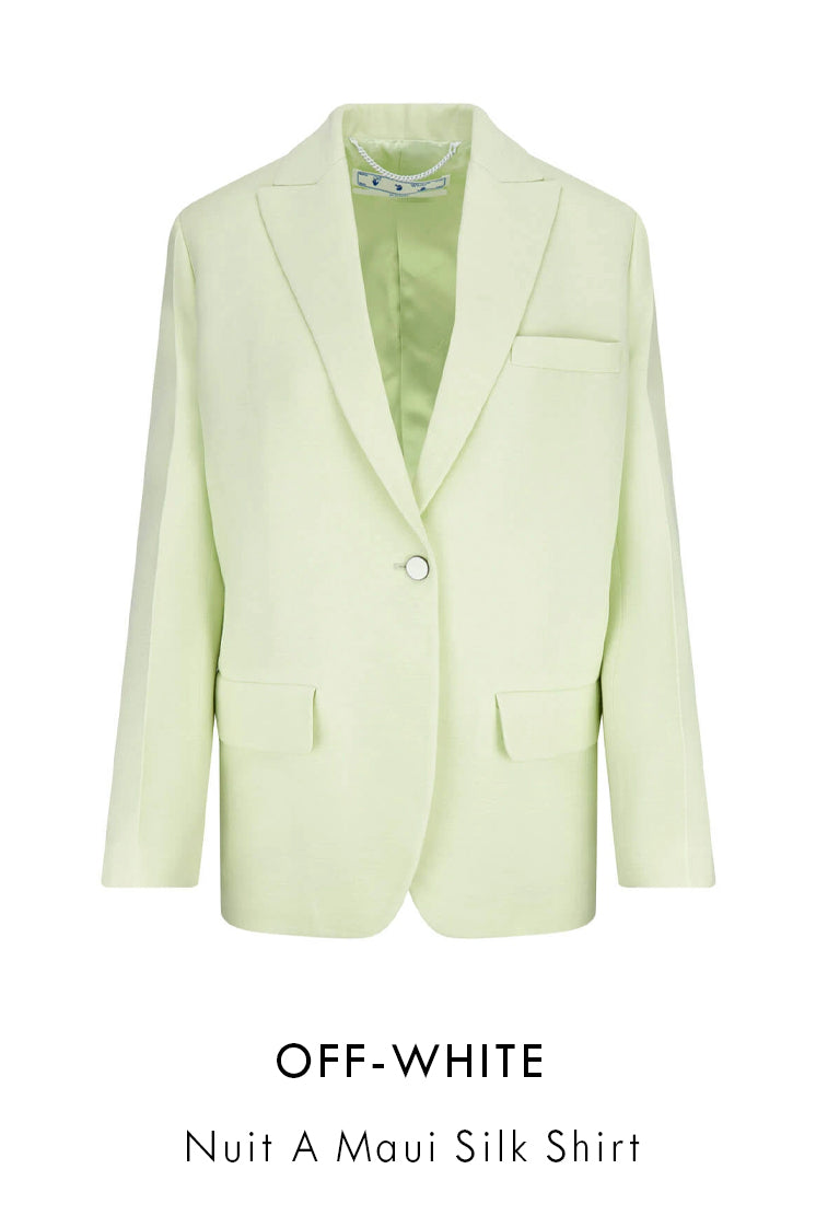 Off-White wool-blend tailored jacket in pale green