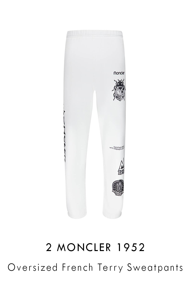 2 Moncler 1952 Oversized French Terry Sweatpants