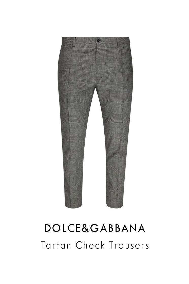 Dolce&Gabbana check-tartan wool trousers