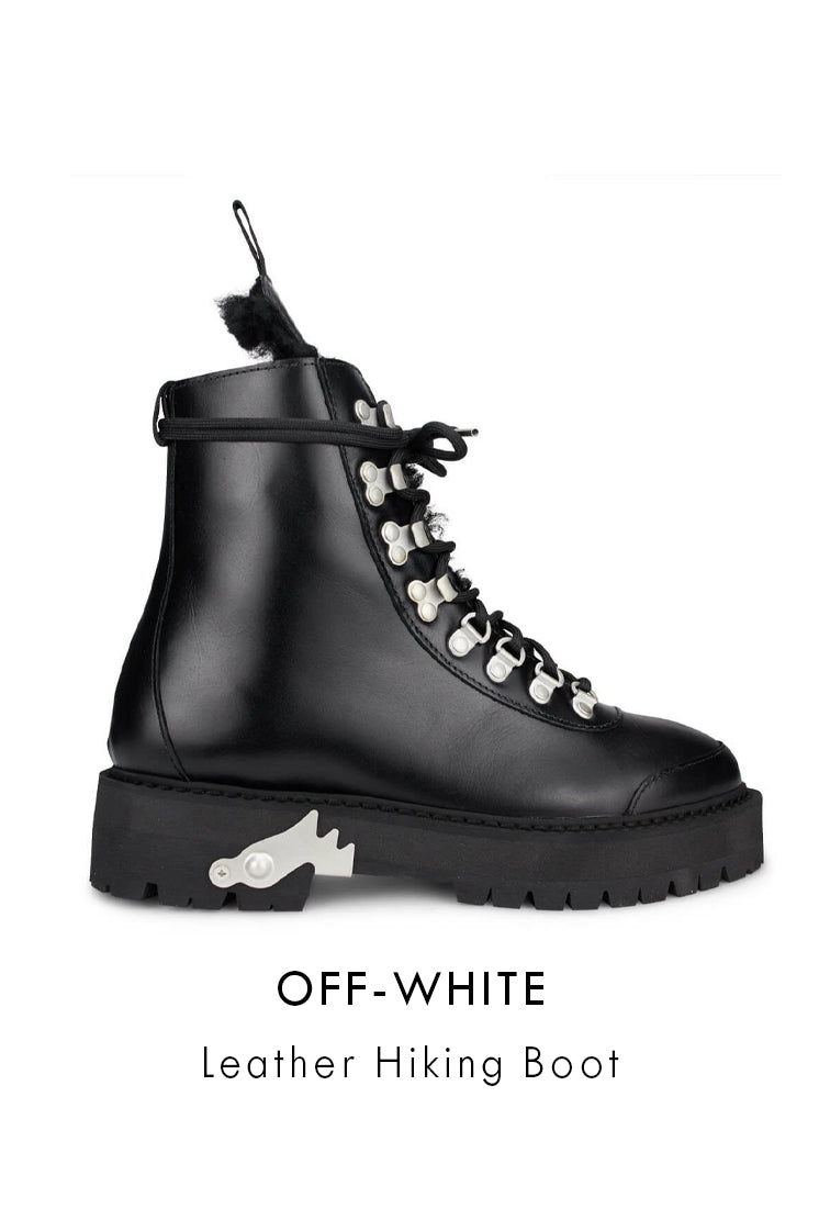 Off-White black smooth leather boots
