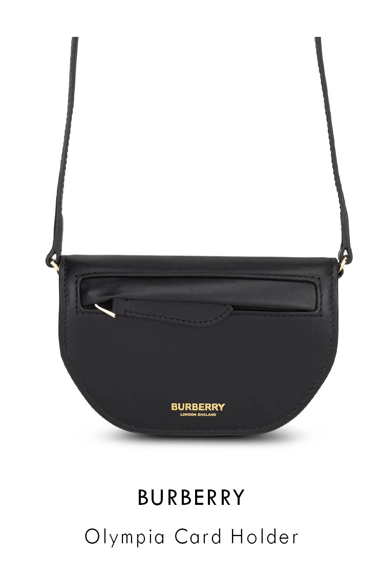 Burberry black smooth leather card holder