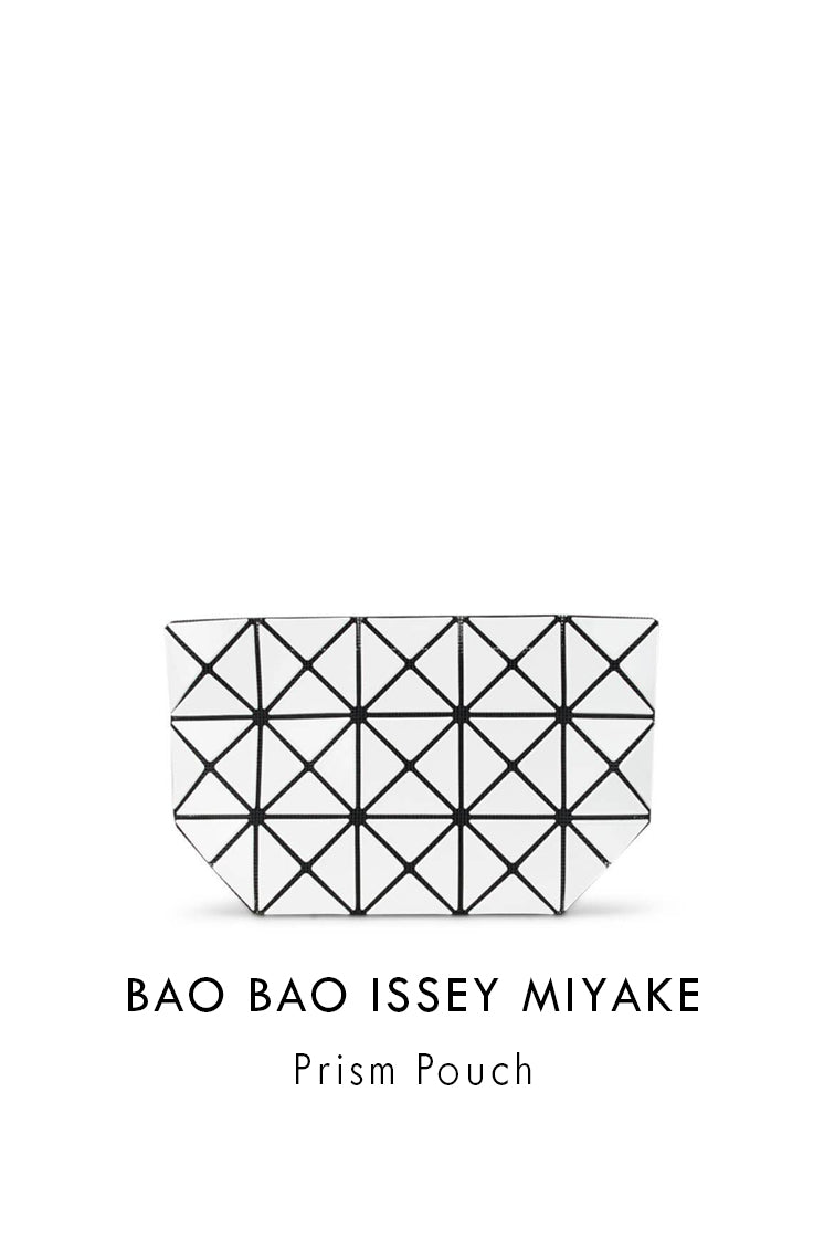 BAO BAO ISSEY MIYAKE Prism Pouch in White BB06AG045 01