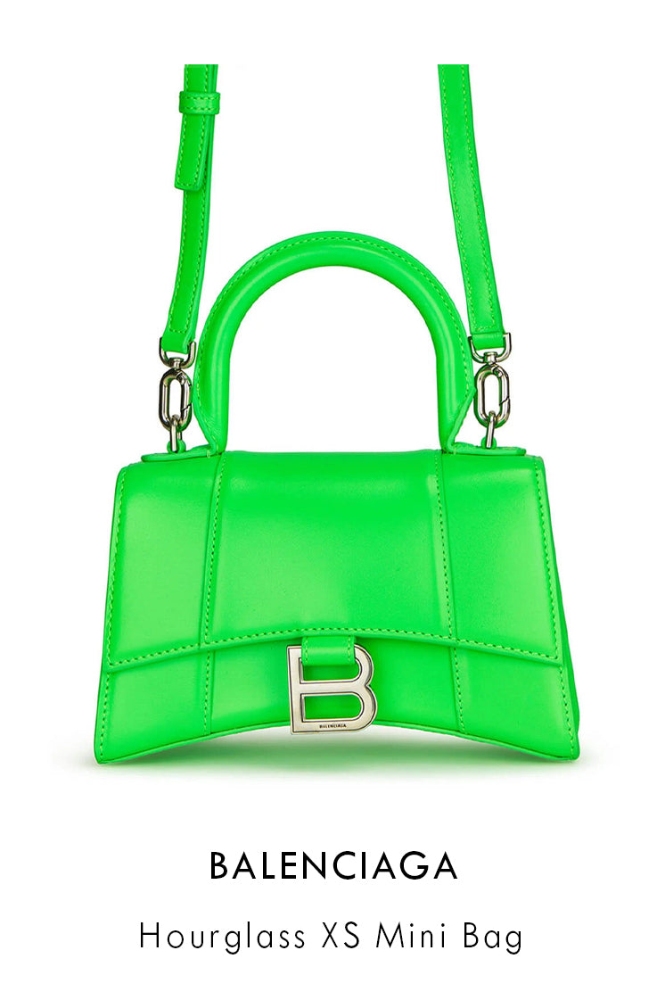 Balenciaga fluorescent green leather bag