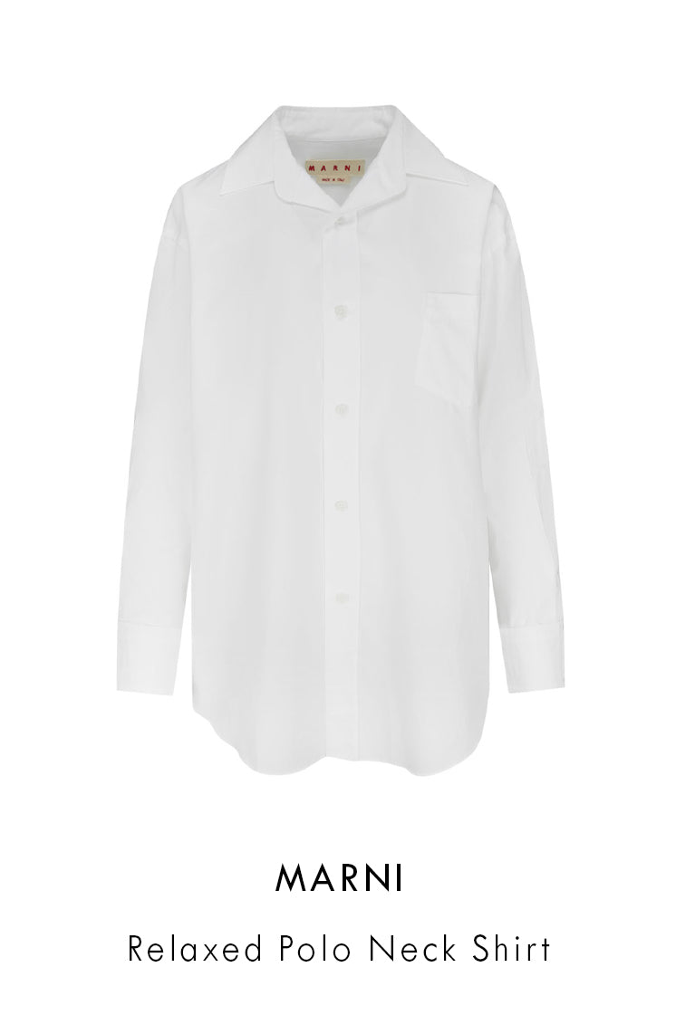 womens relaxed polo neck shirt