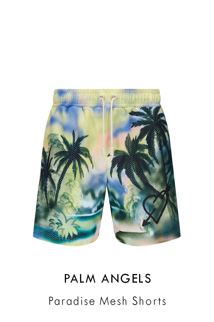 Palm Angels Paradise Mesh Shorts in multicolour polyester