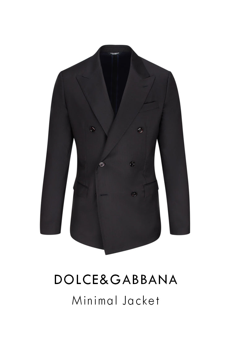 Dolce&Gabbana black wool silk minimal jacket