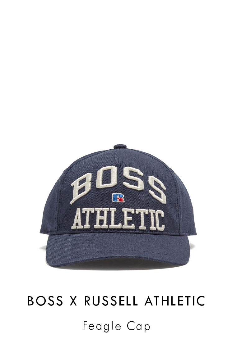 BOSS x Russell Athletic Sky Captain cotton Feagle Cap
