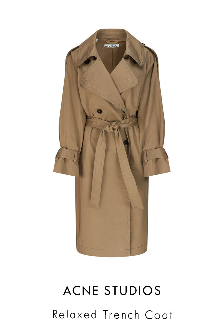 Acne Studios light brown stretch-cotton trench coat