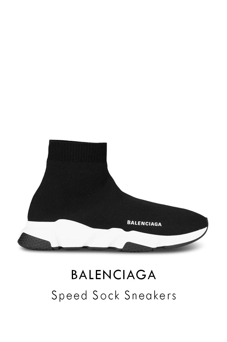 Balenciaga black white nylon sneakers