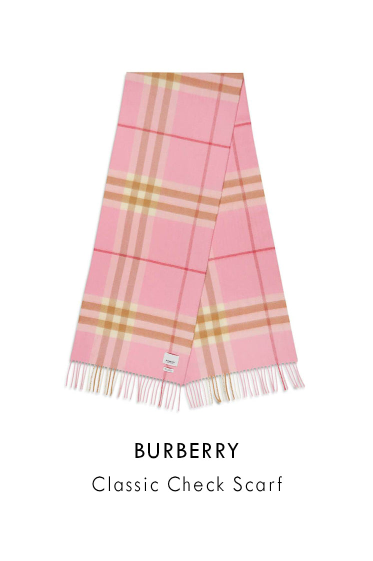 Burberry Classic Check Scarf in Pink 8022678 A3245