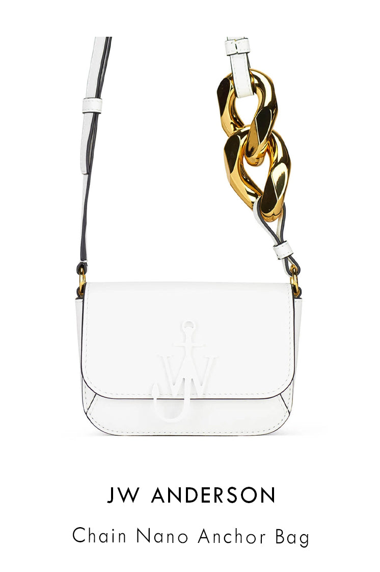 JW Anderson white smooth leather nano bag
