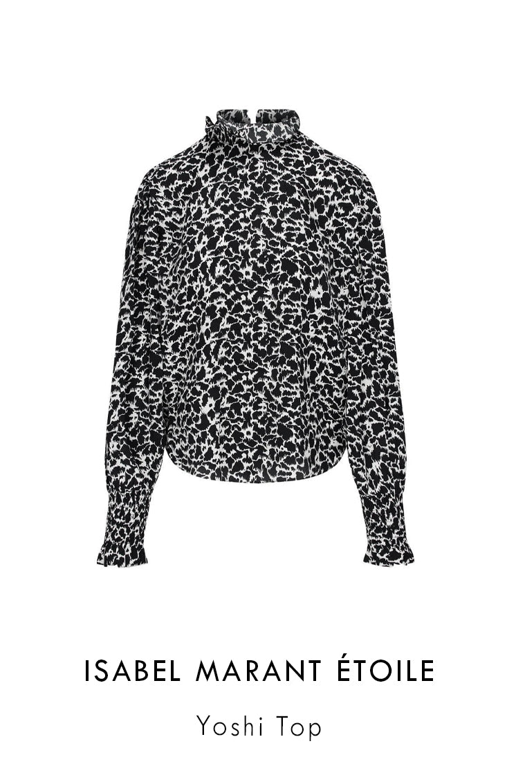Isabel Marant printed top in black and white