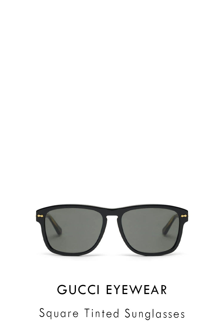 Gucci Eyewear black acetate sunglasses with square frames