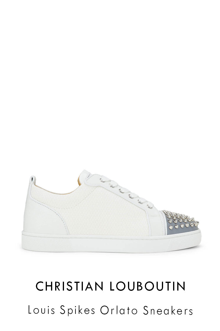 Christian Louboutin Louis Junior Spikes in technical material with studs sneakers
