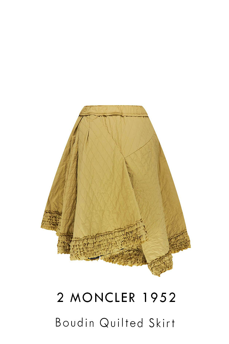 2 Moncler 1952 Boudin Quilted Skirt