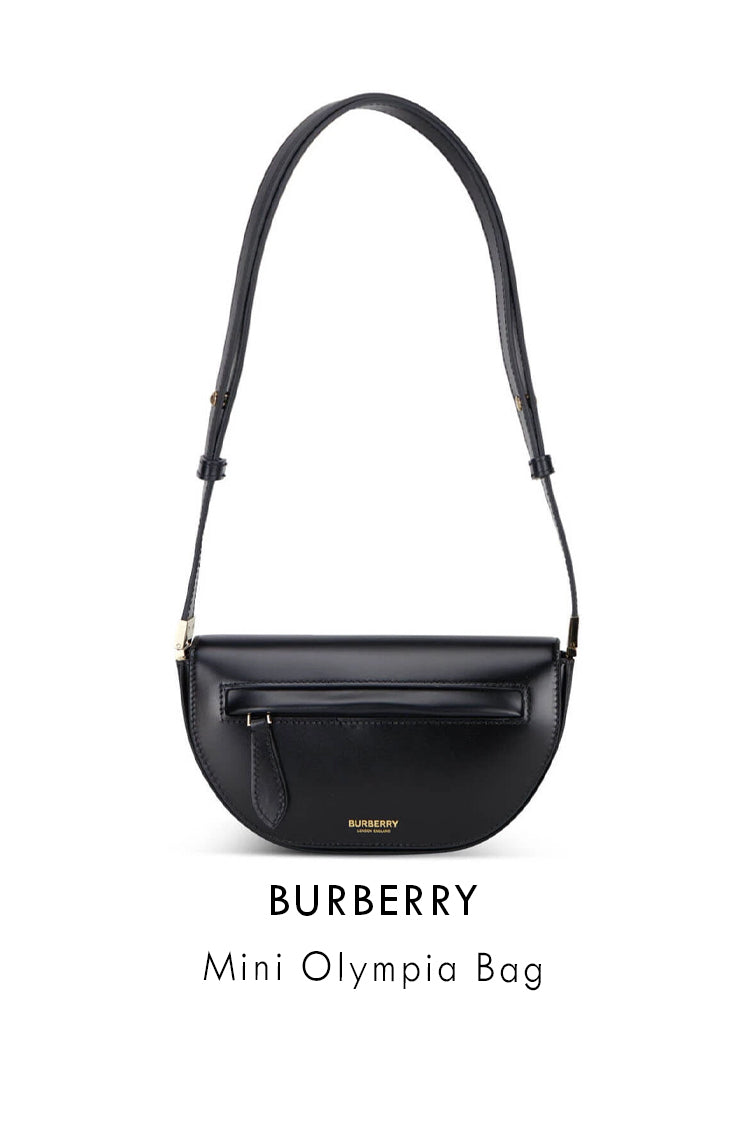 Burberry black smooth leather bag