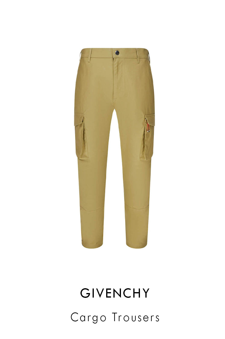 Givenchy cotton cargo trousers in beige