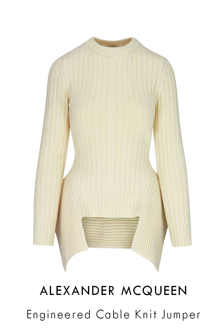 Alexander Mcqueen Engineered Cable Knit Jumper