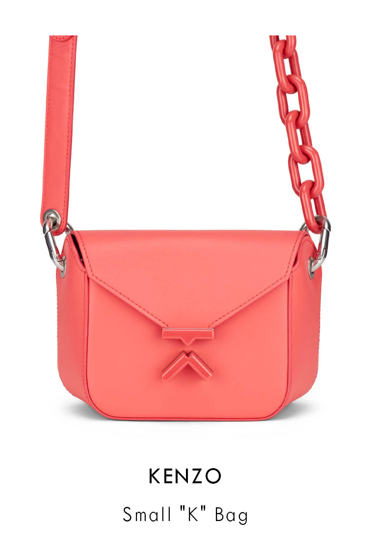 Kenzo peach smooth leather crossbody bag