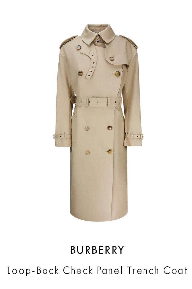 Burberry light beige dusty sand cotton trench coat in a midi length