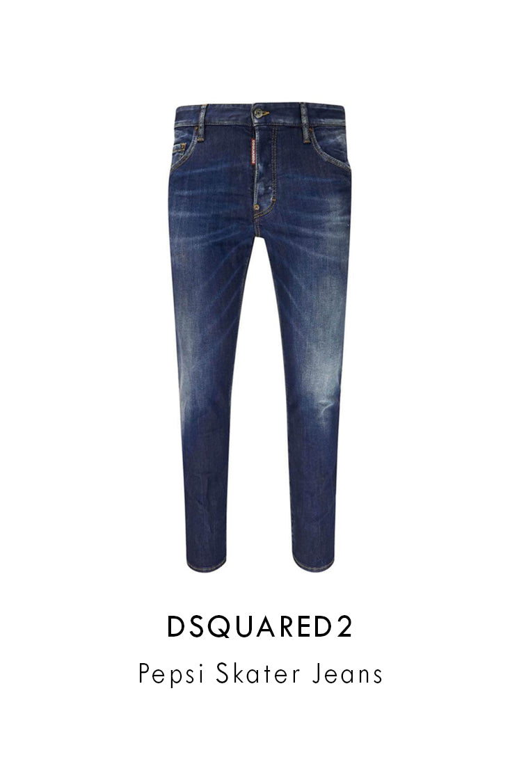 dsquared2 dark blue pepsi skater jeans