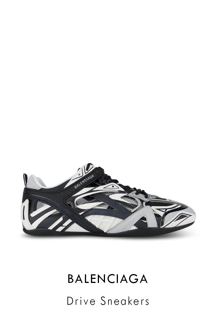 Balenciaga technical fabric and nylon mesh sneakers in grey and black