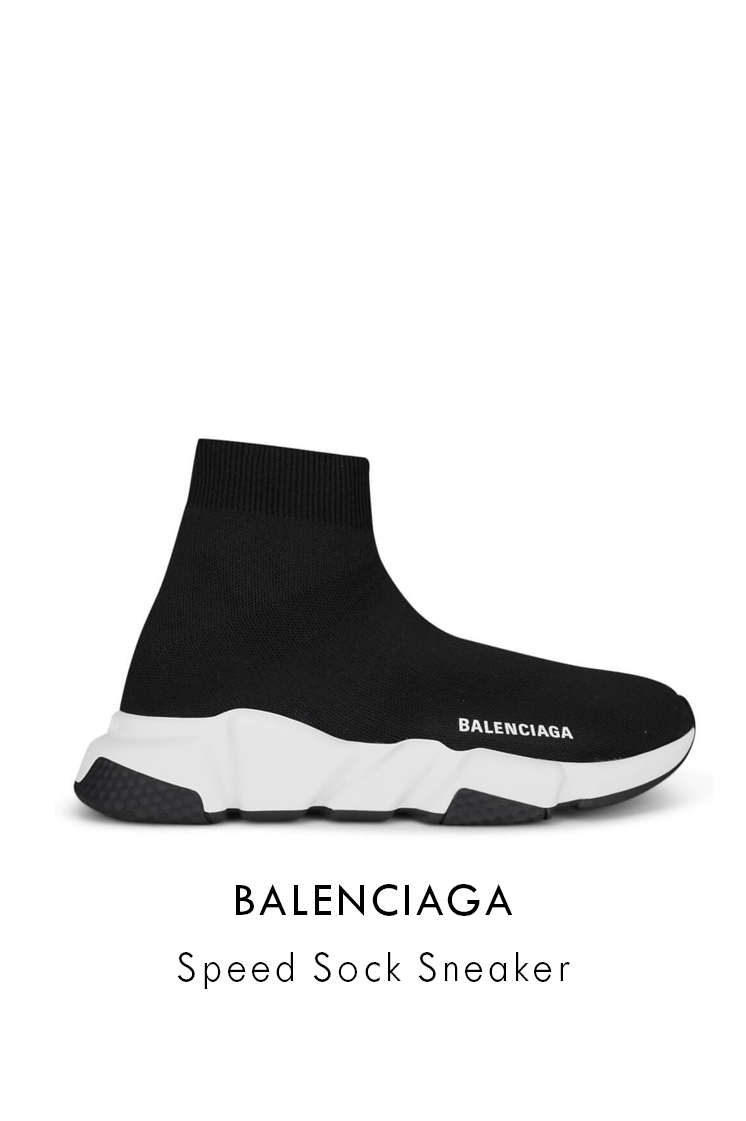 balenciaga black and white speed spock sneakers