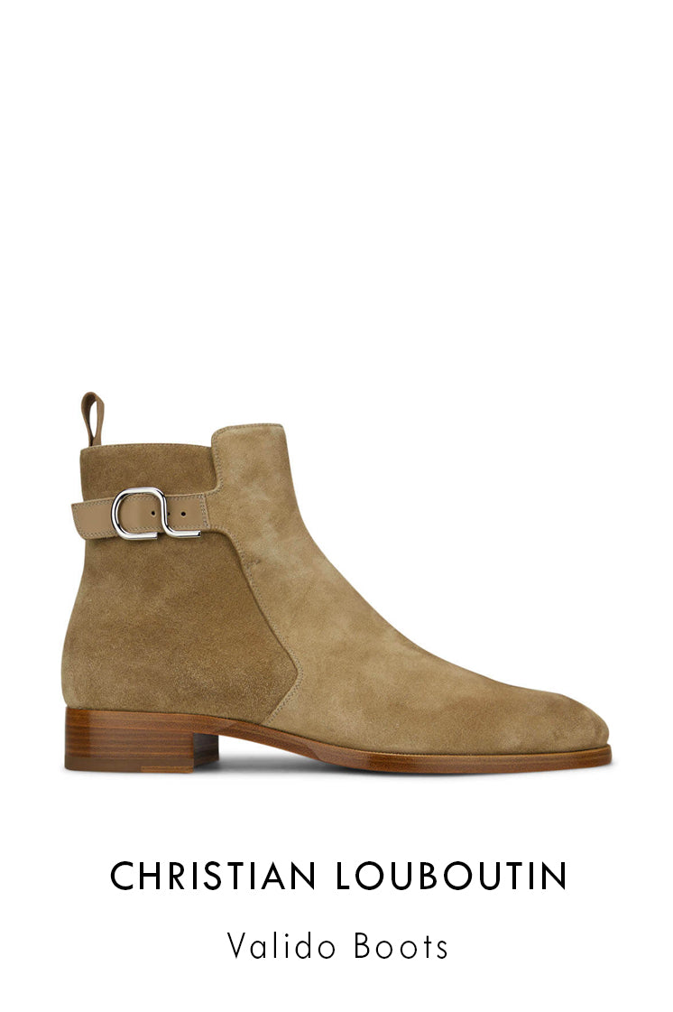 Christian Louboutin brown suede leather boots