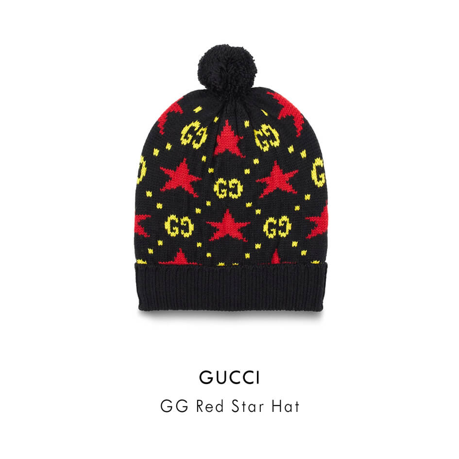 GUCCI GG STAR RED HAT