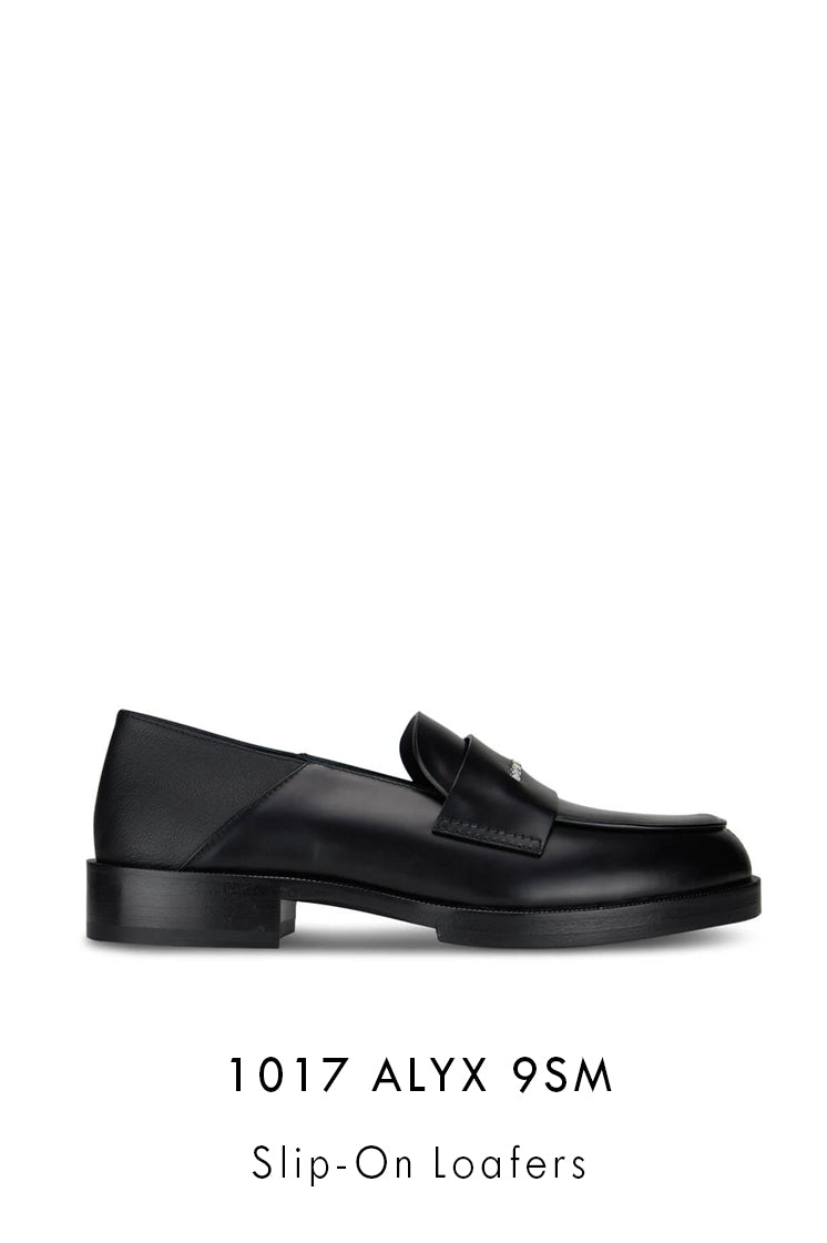 1017 ALYX 9SM black smooth leather loafers