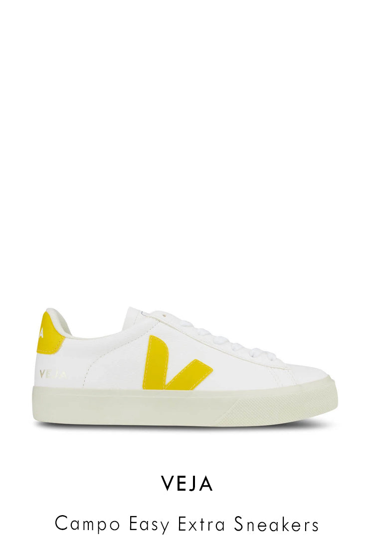 Veja white grained leather sneakers
