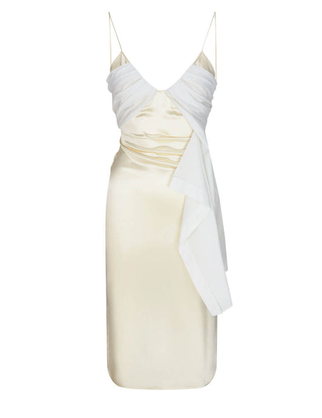 1017 ALYX 9SM White Foulard Formal Long Dress AA-W-DR-0067-F-A01_MTY0001
