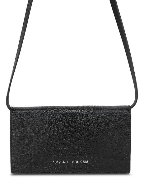 Women's 1017 ALYX 9SM Giulio Clutch Bag with Leather Strap in Black - AA-W-CT-0003-L-E01_BLK0001