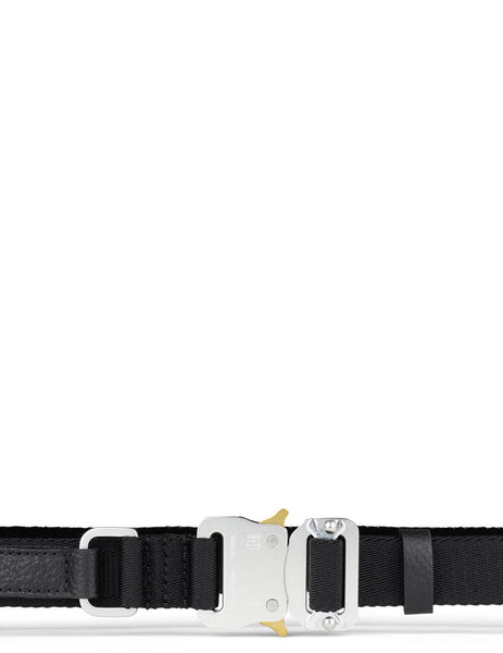 Men's 1017 ALYX 9SM Signature Strap Medium Rollercoaster Belt in Black - AA-U-BT-0027-F-A02_BLK0001