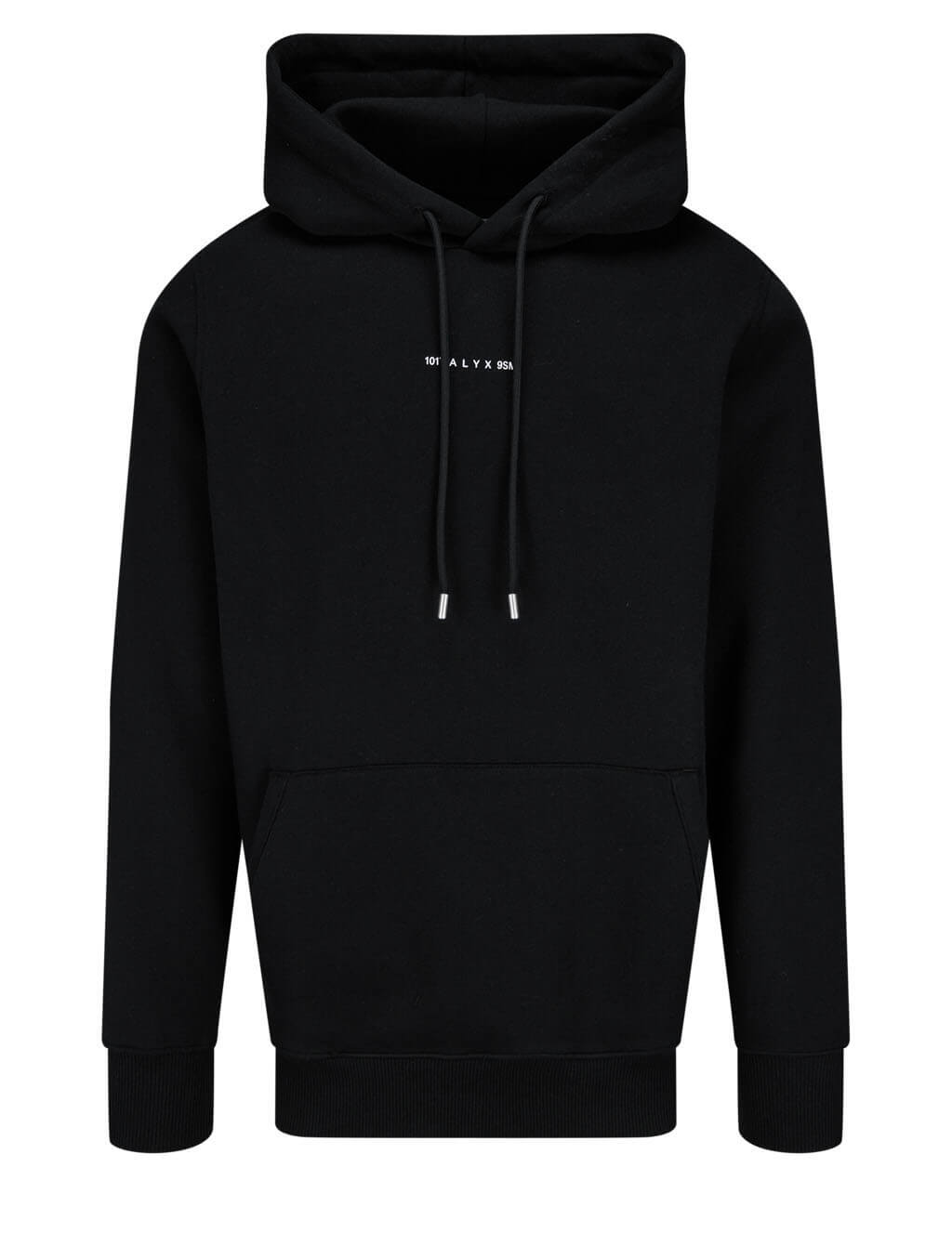 Men's 1017 ALYX 9SM Visual Hoodie in Black - AVUSW0009FA01-BLK0001