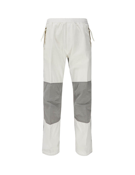 Men's White and Grey 2 Moncler 1952 Nylon Insert Trousers F10922A70060V0115040