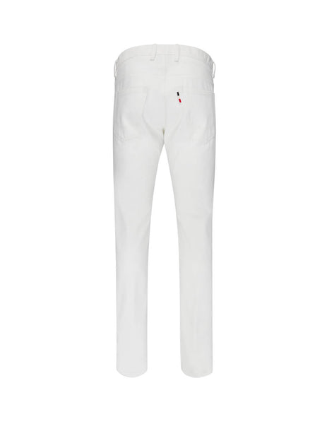 2 Moncler 1952 Men's Giulio Fashion White Bull Denim Trousers 120090057577002