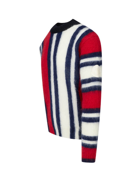 2 Moncler 1952 Men's Plum Striped Jumper 0929C71050A9426470