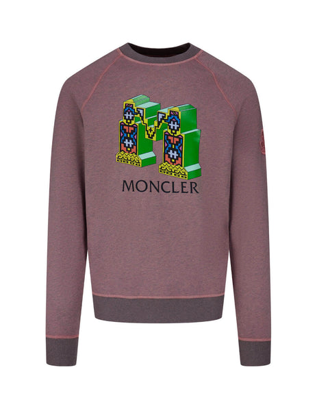2 Moncler 1952 Men's Giulio Fashion Pastel Pink Fergus Purcell Graphic Sweatshirt F10928G70160809B753I