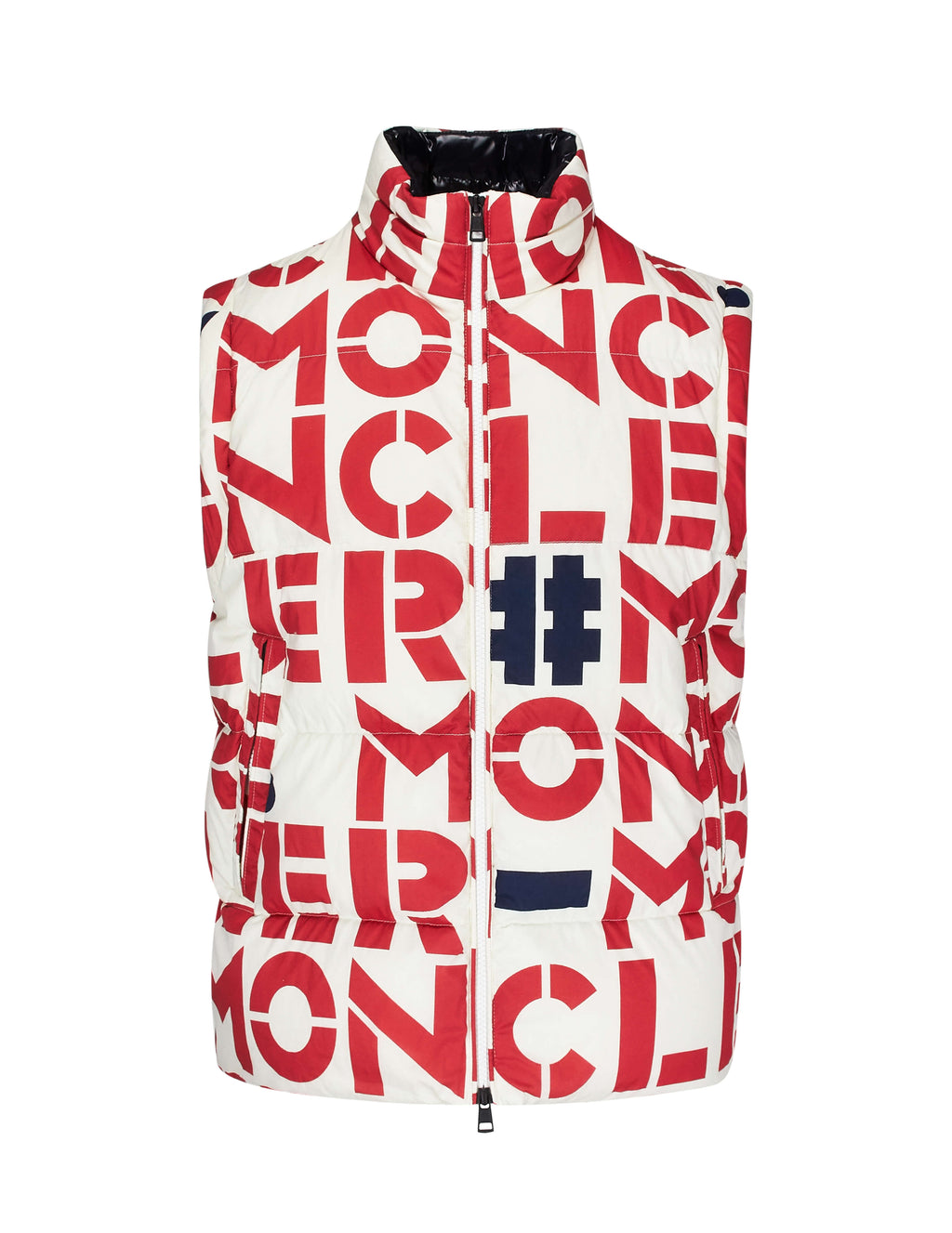 2 Moncler 1952 Men's Giulio Fashion White and Red Jehan Jacket 413850554A7A034